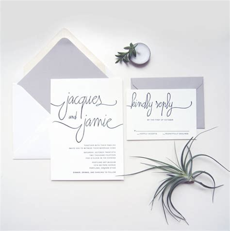 Simple Wedding Stationery by Keep It Simple Chic With Black White Invitations And