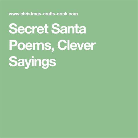 secret pal quotes the 25 best secret santa poems ideas on work
