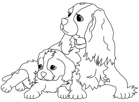 imagenes bonitas para colorear de perritos perros para colorear