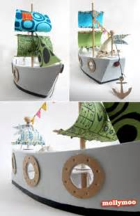 mollymoocrafts cardboard toys diy pirate ship