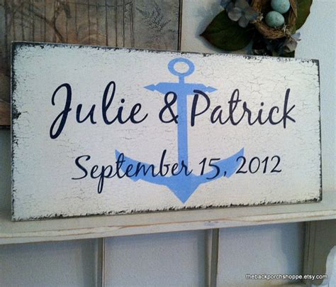 nautical names nautical wedding sign personalized by thebackporchshoppe