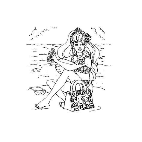 barbie beach coloring pages free coloring pages of barbie at the beach