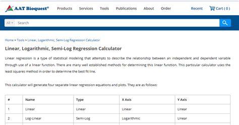 calculator regression online aat bioquest the provider of novel biological detection