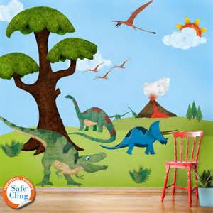 Dinosaur Stickers For Walls Dinosaur Wall Stickers Decals For Boys Room Wall By