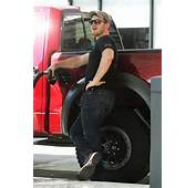Laid Back As He Pumped Gas At A Van Nuys Station In LA On Tuesday