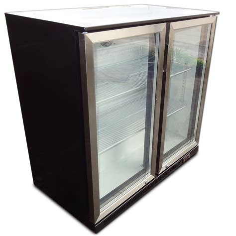 under bench refrigerator 2 door under bench display fridge refrigerator with stainless steel doorss ebay