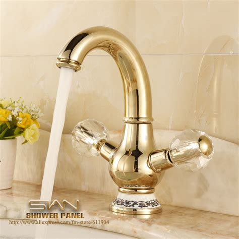 gold color bathroom faucets aliexpress com buy gold color brass bathroom faucet