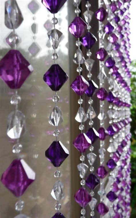 8 foot long curtains multi purple gemstone shape beaded curtain 8 feet long