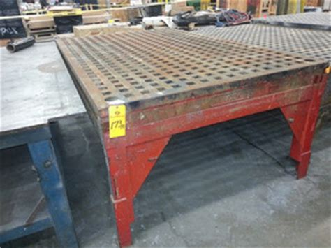 weldsale precision cast iron acorn welding table 90001