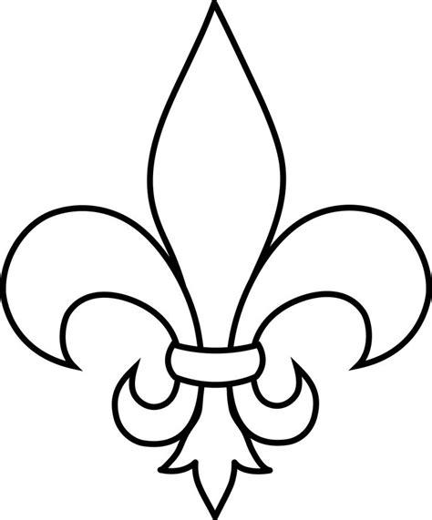fleur de lis template fleur de lis stencil cliparts co