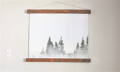 Modern Rustic Wall Hanging Mountainmodernlife Large Wall Hanging From An Engineering Print Mountain