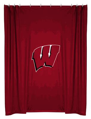 wisconsin badgers shower curtain wisconsin badgers shower curtain