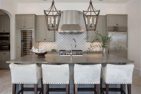 gray backsplash white cabinets gray kitchen cabinets with white fan tile backsplash