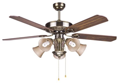large vintage bronze 5 blazers ceiling fan light modern