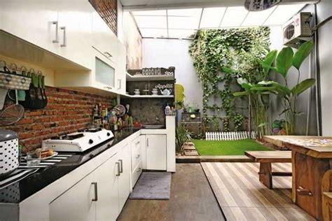 desain dapur minimalis outdoor 24 desain dapur terbuka semi outdoor menghadap taman