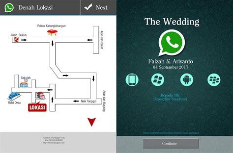 undangan nikah desain whatsapp unik menarik harga
