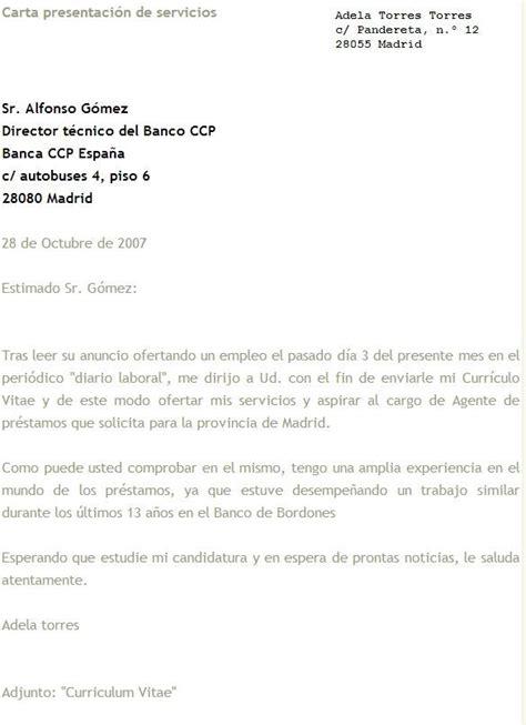 Modelo Carta De Presentacion Enviar Curriculum Modelos De Cartas De Presentaci 243 N