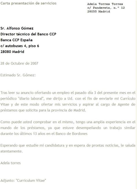 Modelo Curriculum Vitae Y Carta De Presentacion Carta De Presentacion Ejemplos Imagui