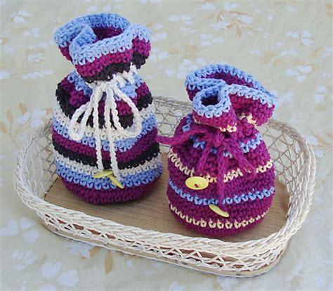 crochet pattern gift bag crochet gift bags with drawstring crochet pinterest