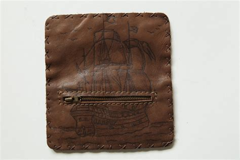 Handmade Leather Tobacco Pouches - handmade leather tobacco pouch in brown
