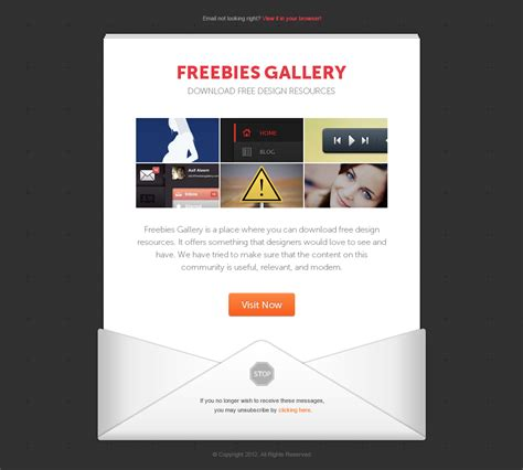 30 Awesome Email Newsletter Psd Templates Wdexplorer Email Template Psd