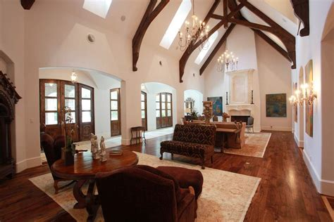 vaulted great room two story great room now this is a family room 42 x 19 w vaulted beamed 2 story ceiling