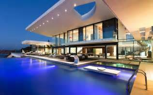 modern house with pool modern house with a pool wallpaper 15037