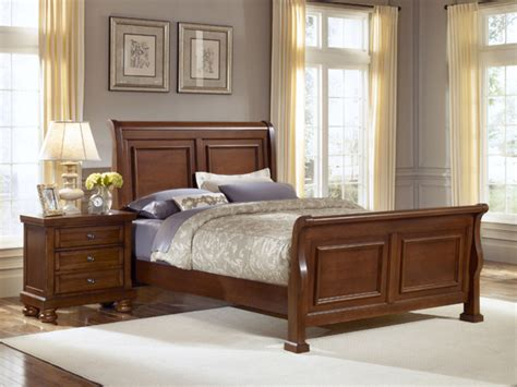 reflections bedroom set reflections sleigh bedroom set medium cherry finish