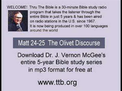 a discourse on the studies of the of cambridge classic reprint books bible study mcgee matt 24 25 olivet discourse 2 of 7
