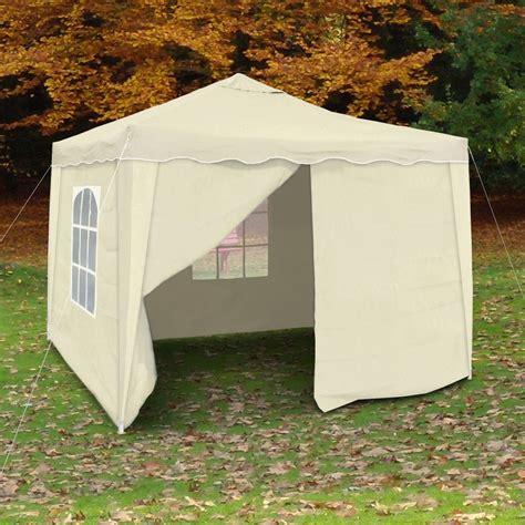 zelt pavillon falt pavillon zelt garten pavillion beige 3x3m pvc 4