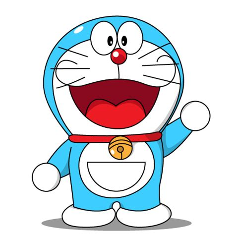 Doraemon And Friends Hitam vectorkotor