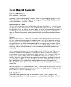 Book Report Examples Book Report Format 8 Free Word Pdf Documents Download