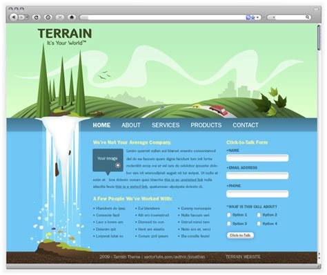 tutorial illustrator web create a green landscape website in adobe illustrator