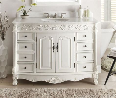 Florence Vanity by 48 Quot Antique White Classic Florence Bathroom Sink Vanity