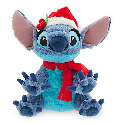 disney christmas plush happy holidays santa stitch