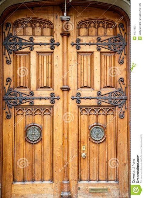 old wood cabinet doors old wooden doors with brass fixtures stock photography