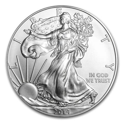1 oz silver american eagle coin 2014 1 oz silver american eagle coins bu 2014 us silver