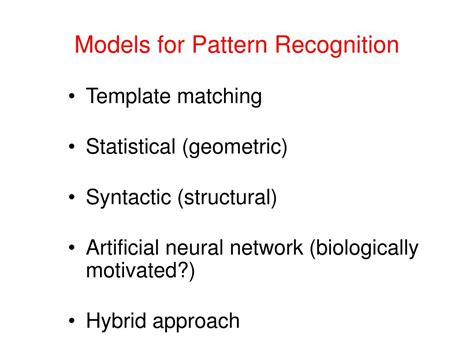 pattern recognition statistical structural and neural ppt pattern recognition vidya manian dept of electrical