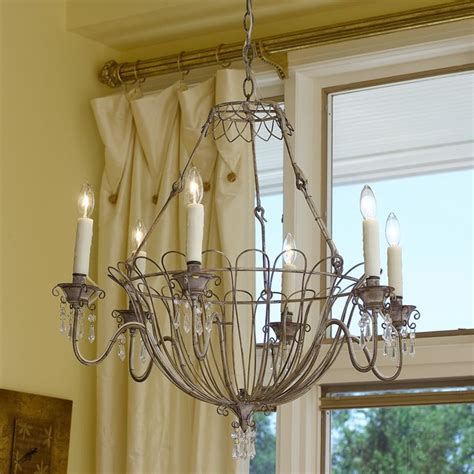 Wire Basket Chandelier Wire Basket Chandelier Chandeliers By Shades Of Light