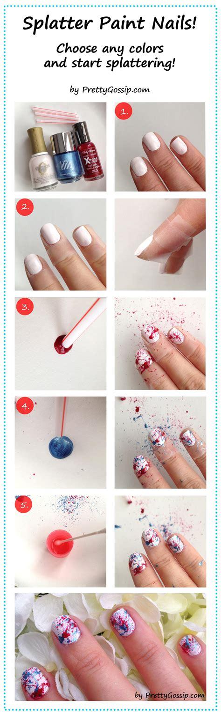 How to splatter paint nails pretty gossip