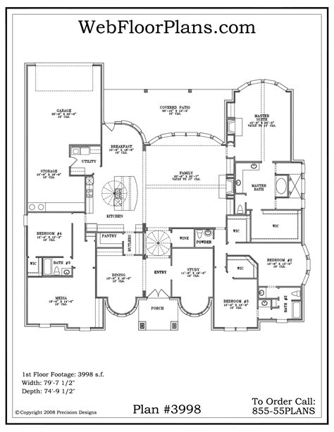 One Story House Floor Plans by Single Story House Plans Smalltowndjs Com