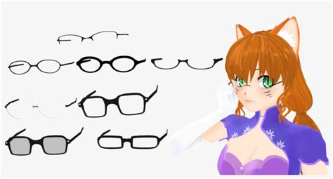 anime glasses png image  library anime glasses png