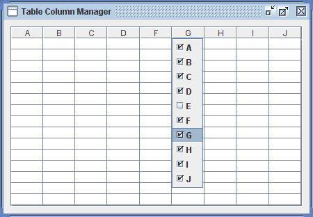 table column manager 171 java tips weblog