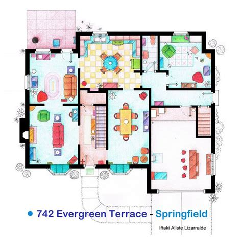 the simpsons house floor plan fancy the simpsons house floor plan print