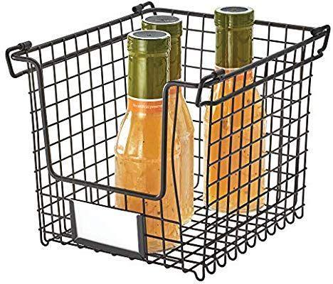 amazoncom idesign classico storage basket  handles