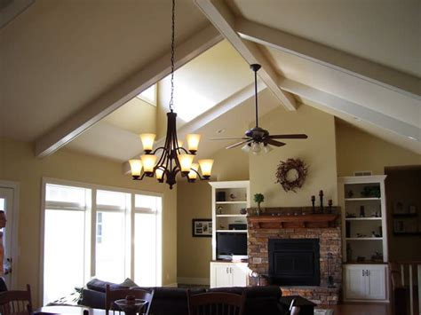 Sloped Ceiling Living Room Ideas Dining Room Wood Beam Sloped Ceiling Sleek Legged Tablejpg