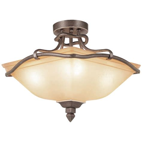 Rustic Ceiling Lights Rustic Tea Branch Semi Flush Mount Ceiling Light 236081 Lighting At Sportsman S Guide