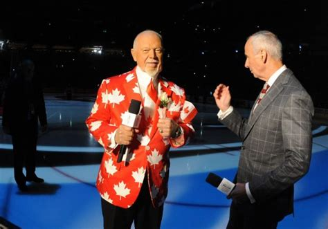 hockey commentator don cherry weighs in on tom brady canadian mr hockey don cherry wears murder suit on set