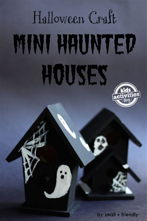 haunted house craft halloween craft mini haunted houses