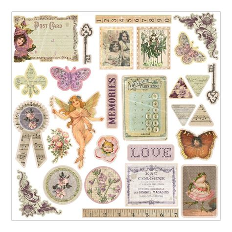 Floral Embellishments For Your Scrapbook Layouts by 1 New Prima Flower Scrapbook Rhymes Collection